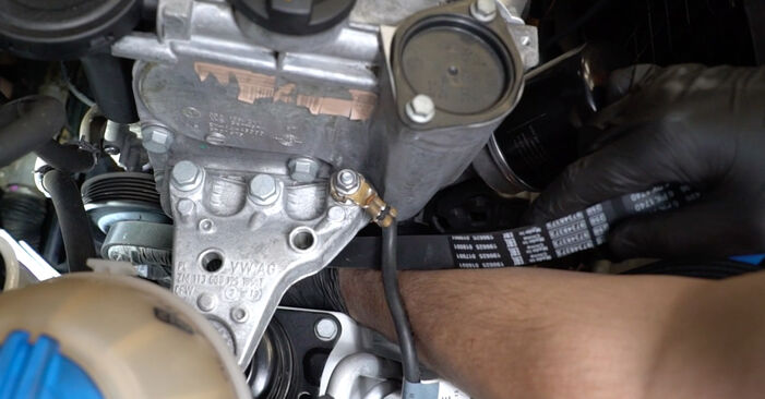 How to remove VW POLO 1.6 2013 Poly V-Belt - online easy-to-follow instructions