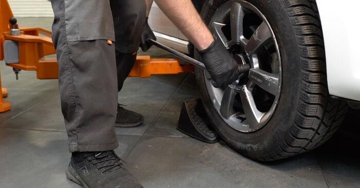 Kako zamenjati VW Polo Sedan (602, 604, 612, 614) 1.6 TDI 2010 Konec jarmovega droga - priročniki s koraki in video vodniki