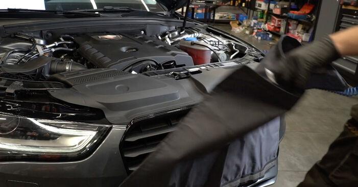 Podrobné odporúčania pre svojpomocnú výmenu Audi A4 B8 Sedan 2011 S4 3.0 quattro Klinový rebrovaný remen