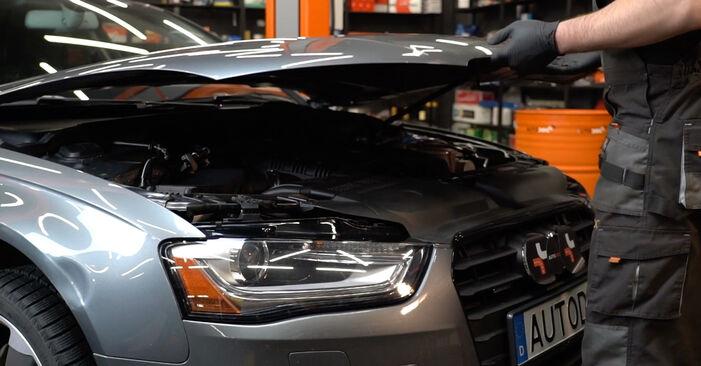 Wie Bremsscheiben beim Audi A4 B8 Limousine 2007 gewechselt werden - Unentgeltliche PDF- und Videoanweisungen