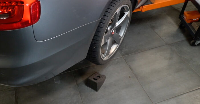 How to remove AUDI A4 S4 3.0 quattro 2011 Brake Discs - online easy-to-follow instructions