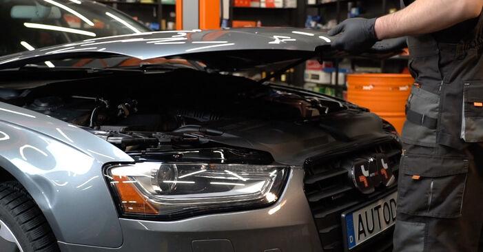 Kaip pakeisti Stabdžių Kaladėlės la Audi A4 B8 Sedanas 2007 - nemokamos PDF ir vaizdo pamokos