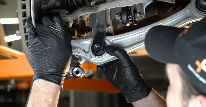 Changing of Control Arm on Audi A4 B8 Saloon 2015 won't be an issue if you follow this illustrated step-by-step guide