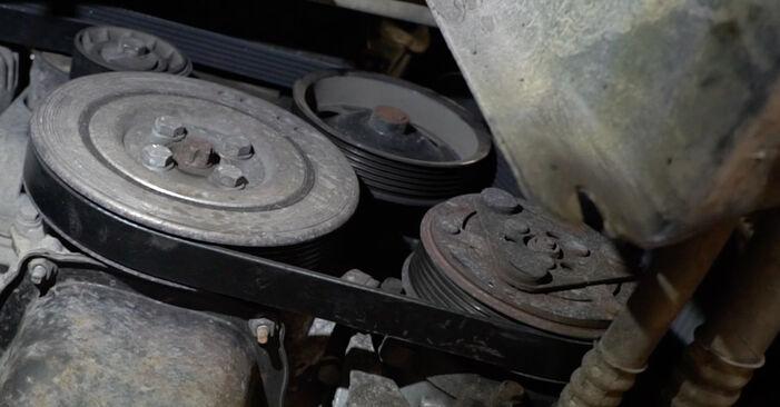 FIAT GRANDE PUNTO 2012 Многоклинов(пистов) ремък стъпка по стъпка наръчник за смяна