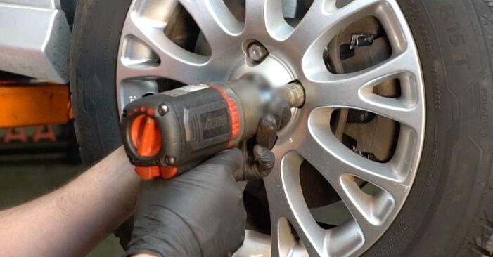 Fiat Grande Punto Hatchback 1.4 2007 Dischi Freno sostituzione: manuali dell'autofficina