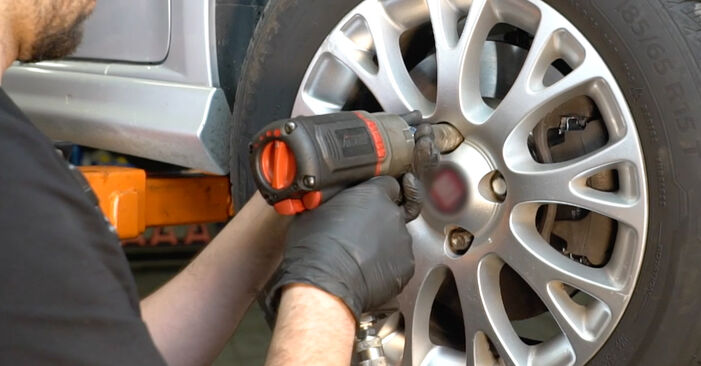 How to replace FIAT GRANDE PUNTO (199) 1.3 D Multijet 2009 Control Arm - step-by-step manuals and video guides
