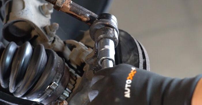 Смяна на Opel Meriva x03 1.6 16V (E75) 2005 Накрайник на напречна кормилна щанга: безплатни наръчници за ремонт