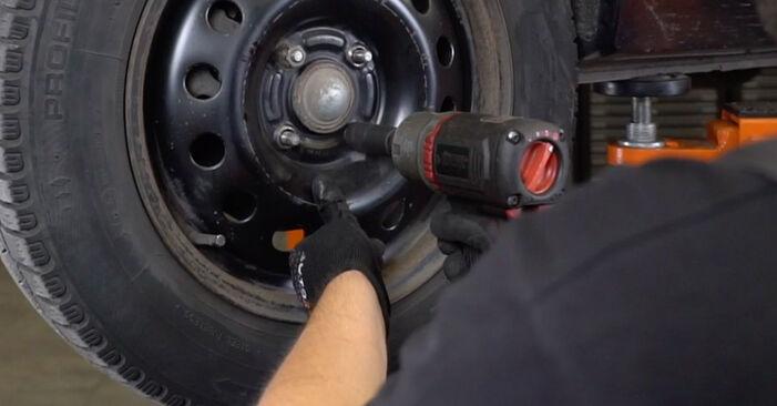 Wie FORD FOCUS 1.8 16V 2002 Bremsbeläge ausbauen - Einfach zu verstehende Anleitungen online