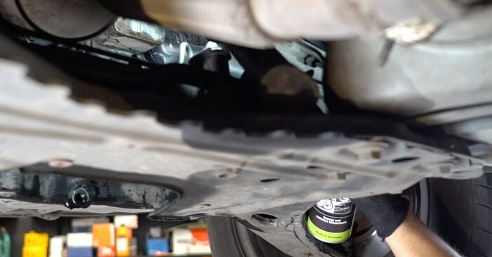 Replacing Oil Filter on Ford Focus DAW 1998 1.6 16V by yourself