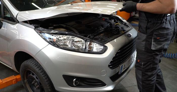 Hogyan Ford Fiesta ja8 2008 Hosszbordás szíj cseréje - ingyenes PDF és videó-útmutatók