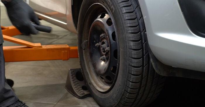 Come sostituire FORD Fiesta Mk6 Hatchback (JA8, JR8) 1.25 2009 Dischi Freno - manuali passo passo e video guide