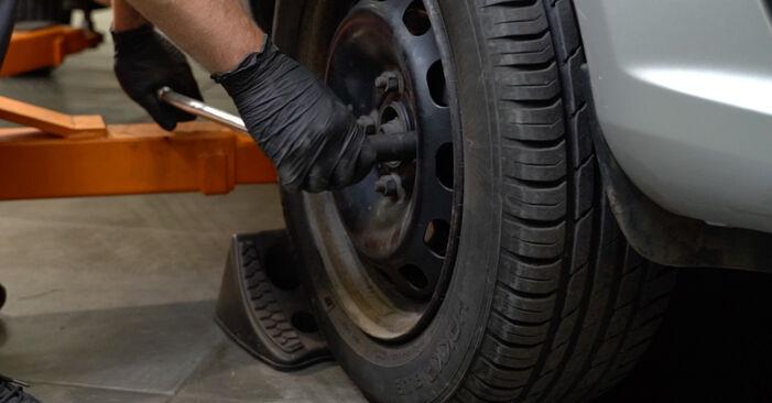 Ford Fiesta ja8 1.4 TDCi 2010 Dischi Freno sostituzione: manuali dell'autofficina