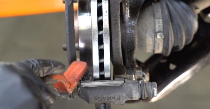 Schritt-für-Schritt-Anleitung zum selbstständigen Wechsel von Ford Fiesta ja8 2021 1.4 LPG Bremsbeläge