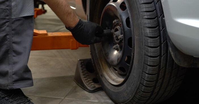 Ford Fiesta ja8 1.4 TDCi 2010 Brake Pads replacement: free workshop manuals
