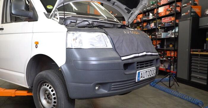 Zweckdienliche Tipps zum Austausch von Stoßdämpfer beim VW Transporter V Kastenwagen (7HA, 7HH, 7EA, 7EH) 1.9 TDI 2004