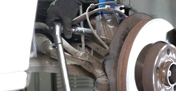 Wie Stoßdämpfer VW Transporter V Kastenwagen (7HA, 7HH, 7EA, 7EH) 2.5 TDI 4motion 2004 austauschen - Schrittweise Handbücher und Videoanleitungen