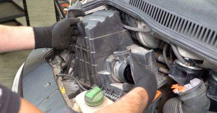 VW TRANSPORTER 2010 Luchtfilter stap voor stap instructies voor vervanging