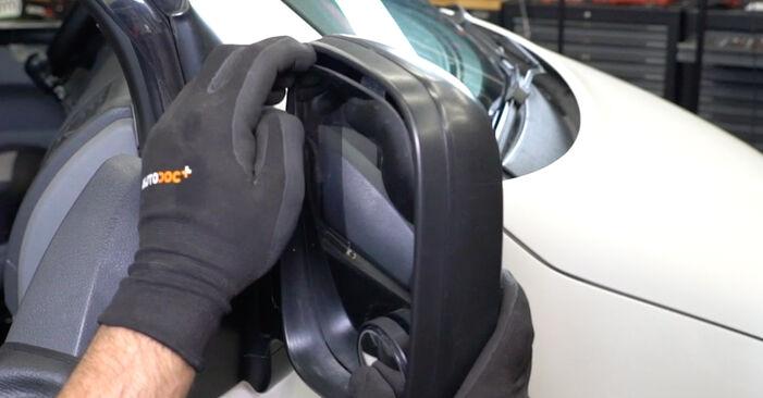 Wie Spiegelglas VW Transporter V Kastenwagen (7HA, 7HH, 7EA, 7EH) 2.5 TDI 4motion 2004 austauschen - Schrittweise Handbücher und Videoanleitungen