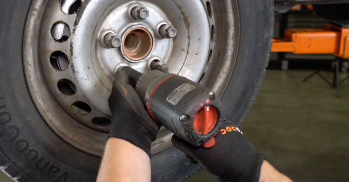 How hard is it to do yourself: Brake Pads replacement on VW T5 Van 1.9 TDI 2009 - download illustrated guide