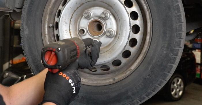 Changing Brake Pads on VW Transporter V Van (7HA, 7HH, 7EA, 7EH) 2.0 TDI 2006 by yourself
