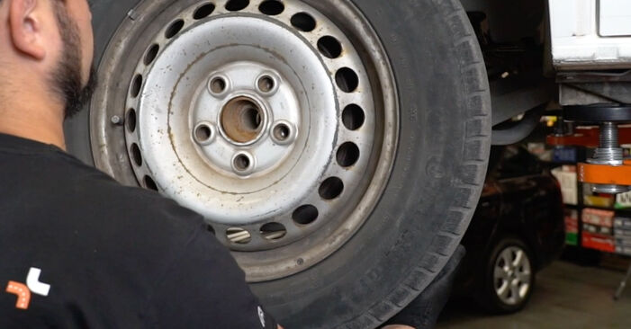 How to remove VW TRANSPORTER 2.5 TDI 2007 Brake Pads - online easy-to-follow instructions