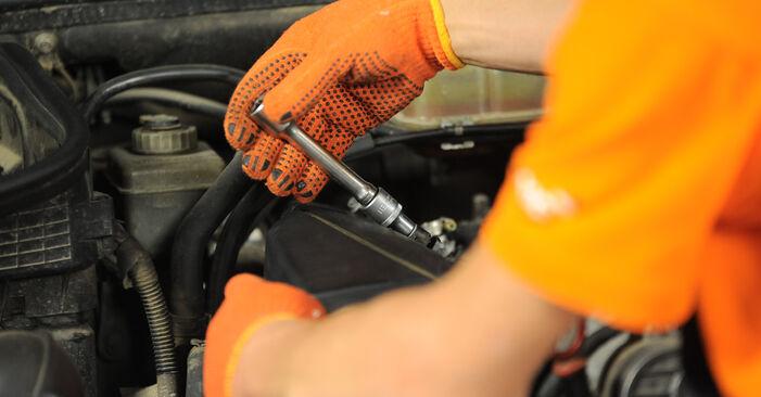 Austauschen Anleitung Luftfilter am Mercedes W163 2000 ML 270 CDI 2.7 (163.113) selbst