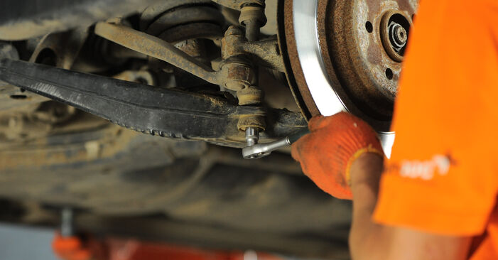 Changing of Control Arm on ML W163 1998 won't be an issue if you follow this illustrated step-by-step guide