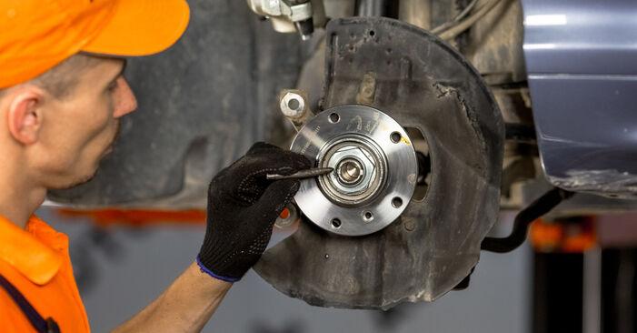 Wie schwer ist es, selbst zu reparieren: Radlager BMW E46 320i 2.0 2000 Tausch - Downloaden Sie sich illustrierte Anleitungen
