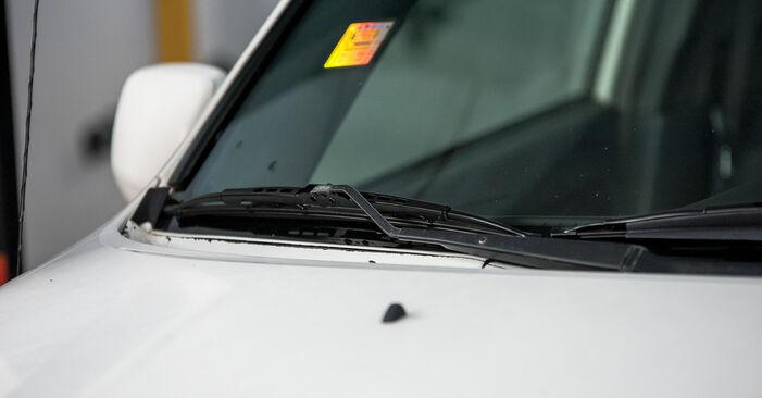 Como remover TOYOTA RAV4 2.4 4WD 2004 Escovas do Limpa Vidros - instruções online fáceis de seguir