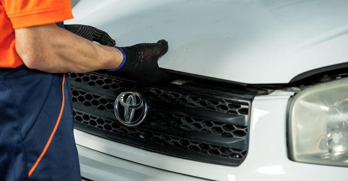 Kuinka vaihtaa Jarrupalat Toyota Rav4 II 2000 -autoon - ilmaiset PDF- ja video-oppaat