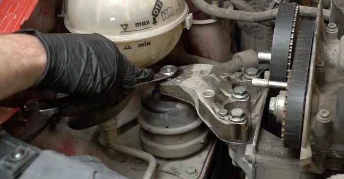 Wie Wasserpumpe + Zahnriemensatz SEAT Ibiza III Schrägheck (6L) 1.4 16V 2003 austauschen - Schrittweise Handbücher und Videoanleitungen