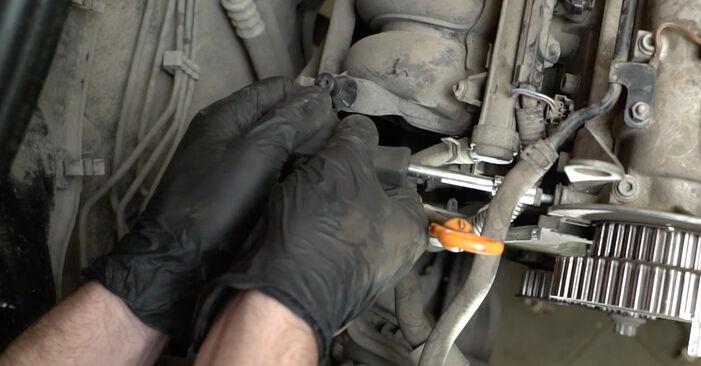 Wie schwer ist es, selbst zu reparieren: Wasserpumpe + Zahnriemensatz Seat Ibiza 6l1 1.9 TDI 2008 Tausch - Downloaden Sie sich illustrierte Anleitungen