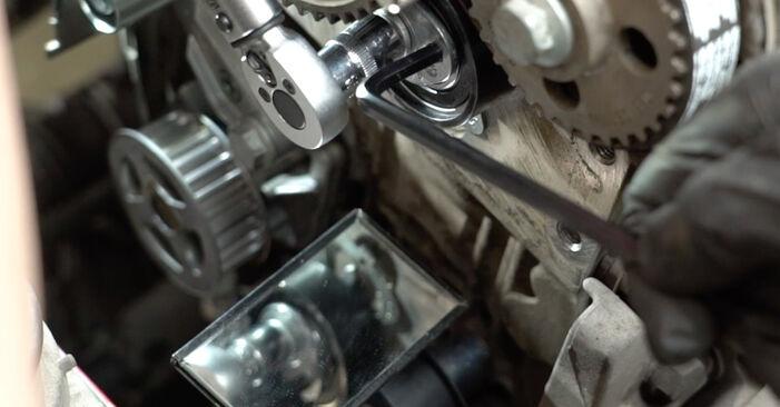 Schritt-für-Schritt-Anleitung zum selbstständigen Wechsel von Seat Ibiza 6l1 2007 1.4 TDI Wasserpumpe + Zahnriemensatz