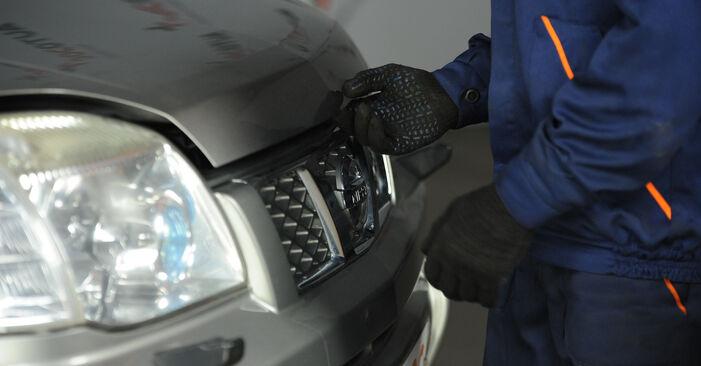Wie lange benötigt das Auswechseln der Teile: Ölfilter beim Nissan X Trail t30 2009 - Detailliertes PDF-Tutorial