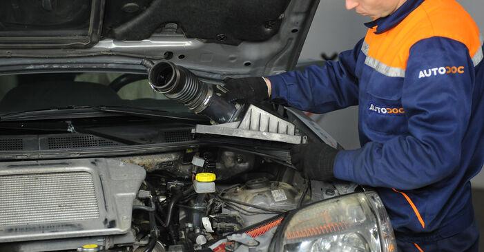 Kraftstofffilter Nissan X Trail t30 2.5 4x4 2003 wechseln: Kostenlose Reparaturhandbücher