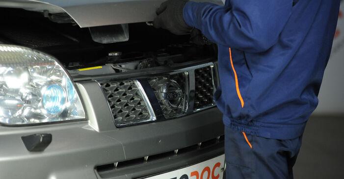NISSAN X-TRAIL 2008 Veerpootlager stap voor stap instructies voor vervanging