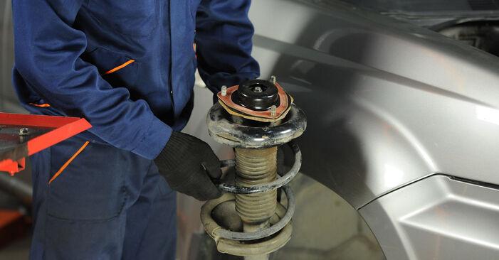 Nissan X Trail t30 2.2 Di 4x4 2003 Veerpootlager remplaceren: kosteloze garagehandleidingen