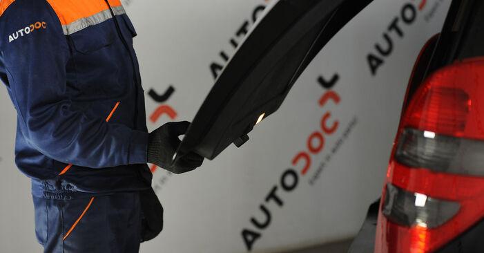 Stoßdämpfer Ihres Mercedes W169 A 200 2.0 Turbo (169.034, 169.334) 2012 selbst Wechsel - Gratis Tutorial