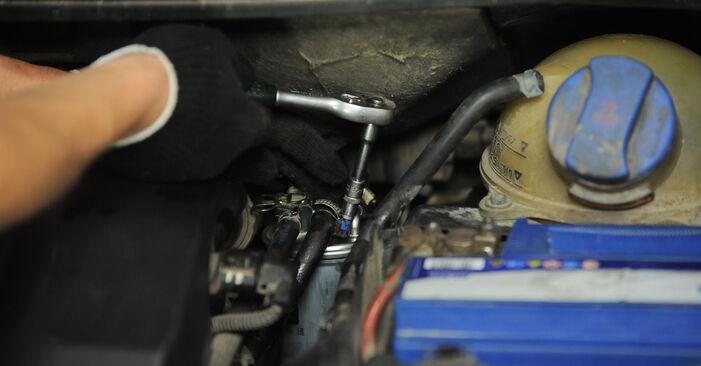 Udskiftning af Brændstoffilter på VW Sharan 1 2005 1.9 TDI ved gør-det-selv indsats