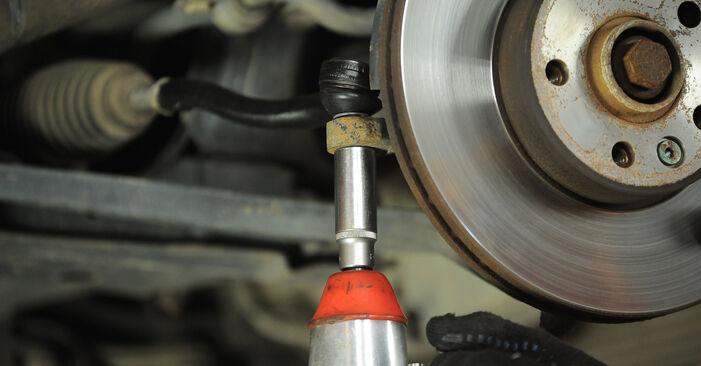 Schritt-für-Schritt-Anleitung zum selbstständigen Wechsel von VW Sharan 1 2008 2.0 Spurstangenkopf
