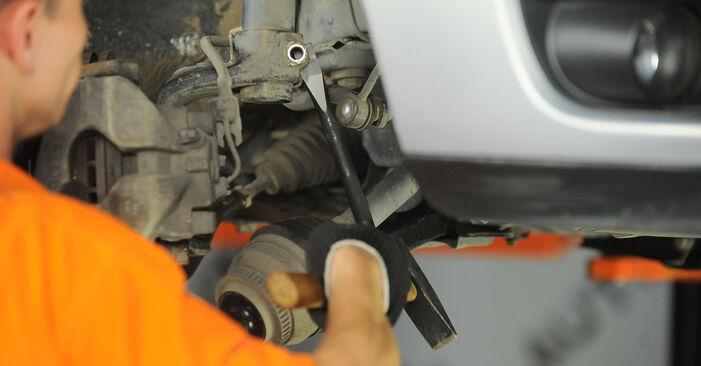 Hvordan man udskifter VW SHARAN (7M8, 7M9, 7M6) 1.9 TDI 1996 Fjeder - trin-for-trin manualer og video vejledninger
