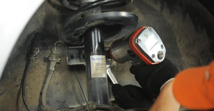 Hvordan man udskifter Fjeder på VW SHARAN (7M8, 7M9, 7M6) 2000: hent PDF manualer og video instruktioner