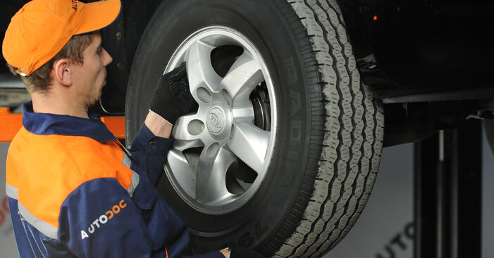 Wie kompliziert ist es, selbst zu reparieren: Spurstangenkopf am KIA Sorento jc 2.4 2008 ersetzen – Laden Sie sich illustrierte Wegleitungen herunter