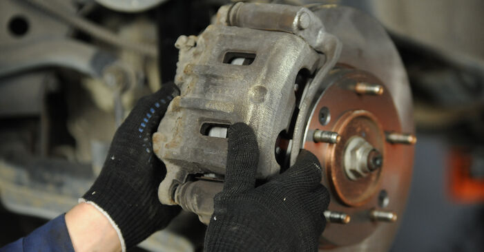 DIY replacement of Brake Pads on KIA SORENTO I (JC) 3.5 V6 2016 is not an issue anymore with our step-by-step tutorial