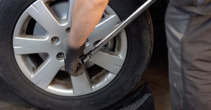 KIA Sorento jc 2.4 2004 Bremsbeläge wechseln: Kostenfreie Reparaturwegleitungen