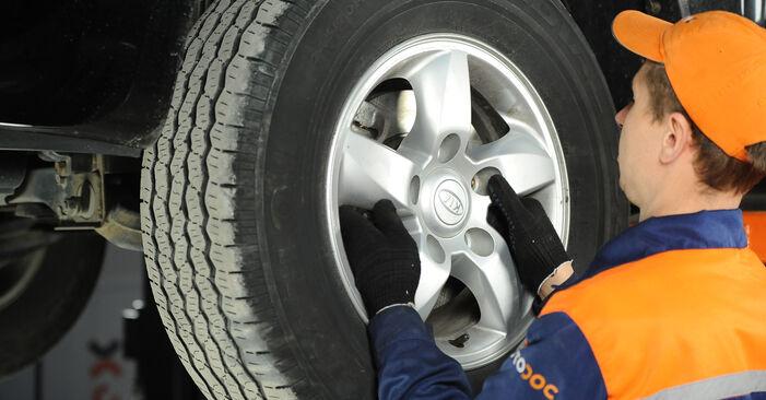 Wie man KIA SORENTO 3.5 2006 Bremsbeläge wechselt – Leicht verständliche Wegleitungen online