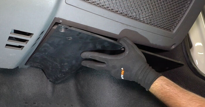 Kui kaua kulub välja vahetamisele: sõiduki VW T5 Van 2011 Salongifilter - informatiivne kasutusjuhend PDF vormis