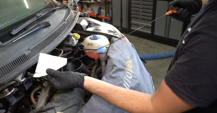 Austauschen Anleitung Ölfilter am VW T5 Kasten 2013 2.5 TDI selbst