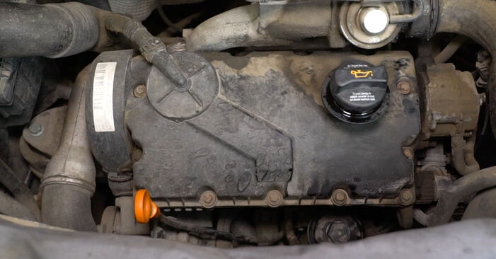Tausch Tutorial Ölfilter am VW Transporter V Kastenwagen (7HA, 7HH, 7EA, 7EH) 2015 wechselt - Tipps und Tricks