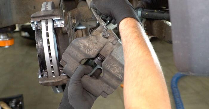 How to change Brake Calipers on VW Transporter V Van (7HA, 7HH, 7EA, 7EH) 2015 - tips and tricks